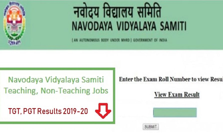 NVS Bharti Result 2020: Teacher recruitment exam results released, check here