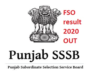 PSSSB FSO result 2020: Punjab FSO result released