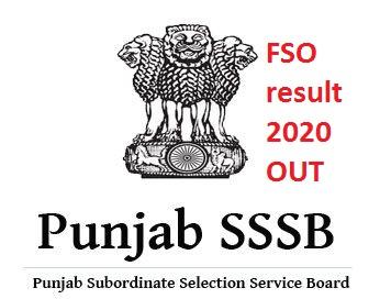 PSSSB FSO result 2020